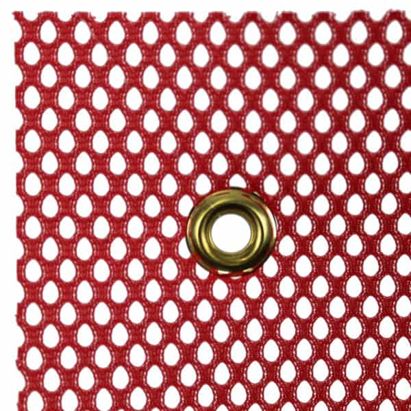 OWPI Grommet Warning Flag, red, size 18-in OF10131, OF10231, OF11131 and OF11231 closeup