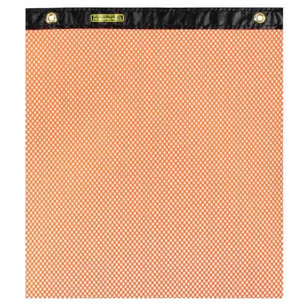 OWPI Heavy Duty Grommet Warning Flag, orange, size 18-in OF10234