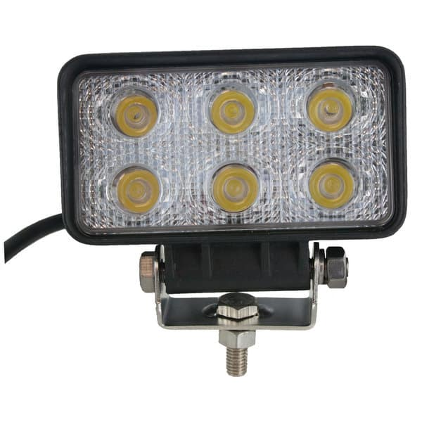 Techspan Megalumen 4 1/2-in Rectangular Tractor/Utility - 1440LX Spot Beam LED Lamp TS725231