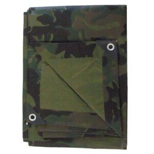 Inland Plastics Green Camouflage Utility Poly Tarp