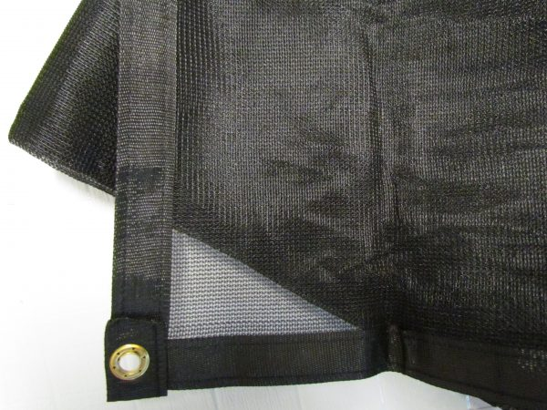 Inland Plastics Shade Black Mesh Tarp