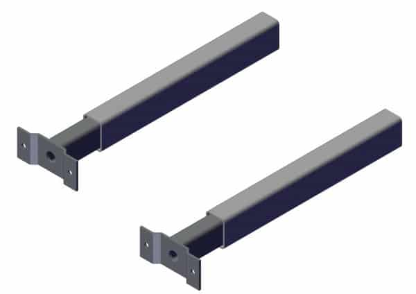 Mounting Brackets for Stationary External Mount Pivots - Set