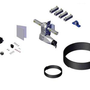 Roll Rite Power Kit for Cable System - Thru-Shaft Gear Motor (24 RPM) & Mounting Couplers 33120