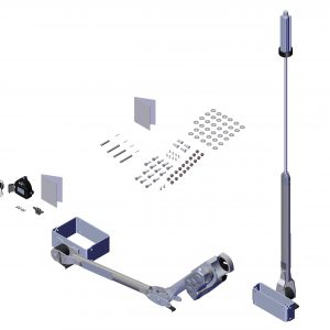 Roll Rite Rite-Lock Power Arm Kit With Pass Stowing, Ext Pivot & Multi Flex Arm for 3-in Axle