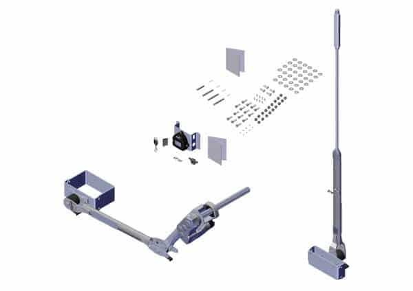 Roll Rite Rite-Lock Power Arm Kit With Passenger Stowing, Ext Pivot & MultiFlex Arm for 2-in Axle