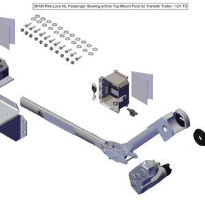 Roll Rite Rite-Lock Power Arm Kit With Passenger Stowing and One Top Mount Pivot for END DUMP Trailer
