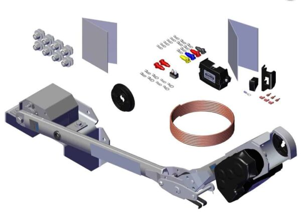 Roll Rite Rite-Lock Power Arm Kit With Passenger Stowing and One Top Mount for End Dump Trailer