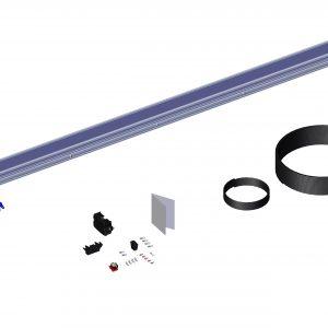 Roll Rite Spool Kit With Super Duty Tarp Spool, 103-in Axle Spool Kit & Wind Deflector 36490_1
