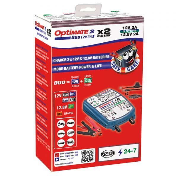 TecMate OptiMate 2 Duo Battery Chargers