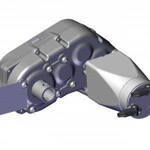 Roll Rite 20230 Thru-Shaft High Speed Motor 12V, No Brake, 60 RPM