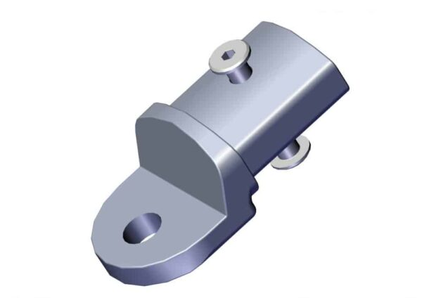 Roll Rite Aluminum Tension Bow End Tab with Fasteners 76820