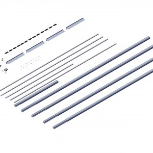 Roll Rite Axle Kit - 3in without Ridge Pole for 49ft - 53ft Trailers (Transfer Trailer Config) 104054