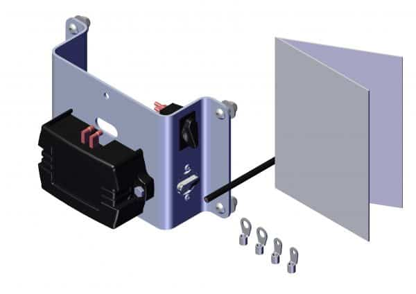 Roll Rite Electric Kit - HD with Outdoor Rotary Switch and switch relay breaker & mount 100456