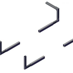 Roll Rite Mounting Brackets for 3ft Low Profile Sliding Pivots - Set RR46160