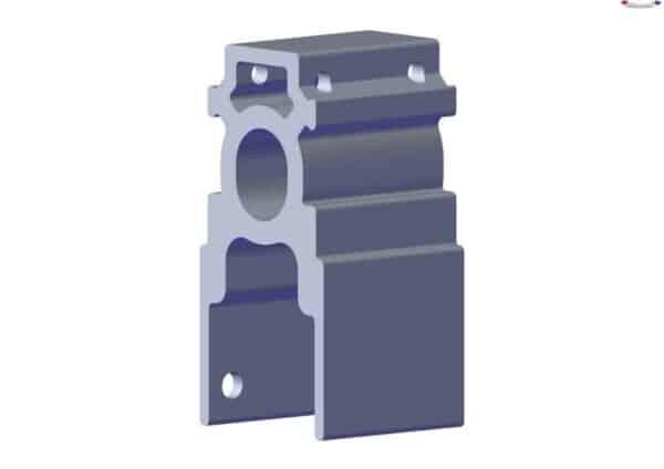 Roll Rite Pivot Mount Extrusion for Narrow Sliding Pivot 3in RR46733