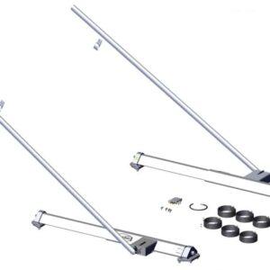 Roll Rite Pivot Set - 3ft Low Profile Sliding 6 Spring Pivot Set with 120 Tubes 47710