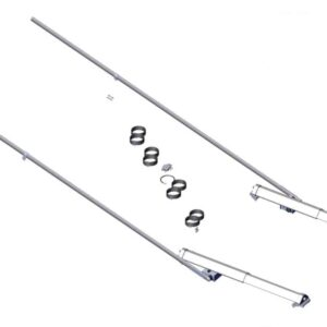 Roll Rite Pivot Set - 3ft Low Profile Sliding 8 Spring Pivot Set with 192 Tubes 47720