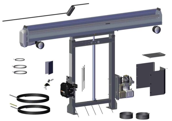 Roll Rite Tower Assembly - 12v SDX Single Stage with Single Valve Pump & Control Box RR101531