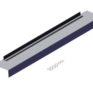 Roll Rite 101.5in Wide Flat Aluminum Endcap for Transfer Trailers - 14in Long 38080