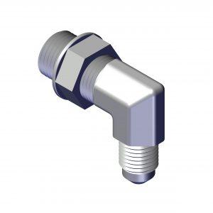 Roll Rite Adapter, 90 #4 Male Tube to #6 Adj Male Oring 39098