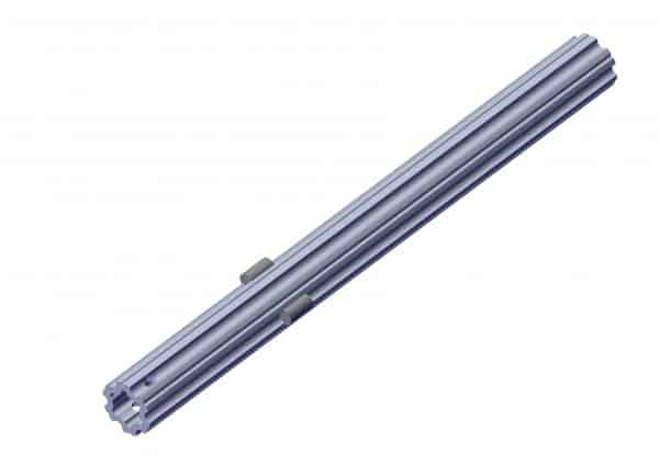 Roll Rite Axle, Adapter 2in Axle, 21in Extrusion Tube 2in RR36940