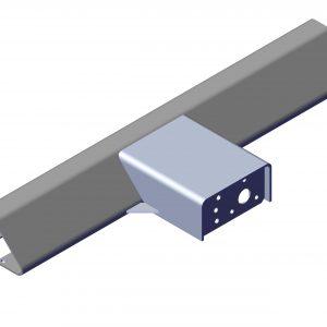 Roll Rite Outer Extrusion Pivot with 6 Spring Pivot Bracket for 3' LP Sliding Pivot-Passenger 47750