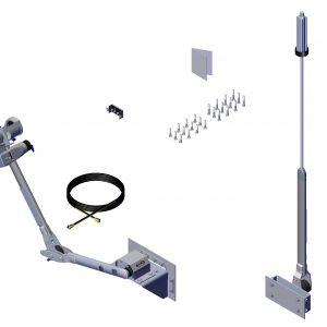Roll Rite Power Kit - Driver Stowing Top Mount with Long Upper with Rear Flex Arm Return 37111