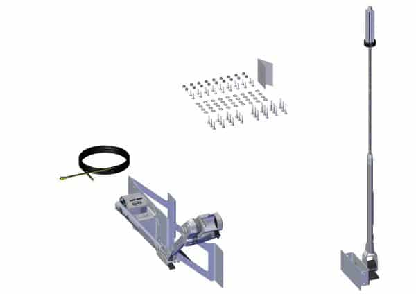Roll Rite Power Kit - Pass. Stowing Top Mount with Long Upper, Rear Flex Arm for Trailer with Nos 37116