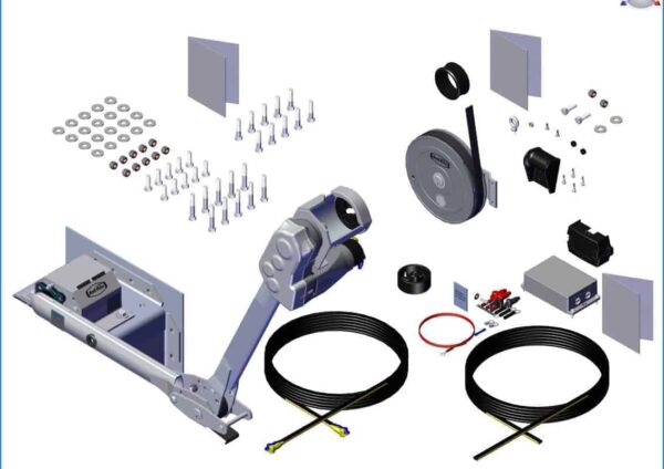 Roll Rite Power Kit - Pass. Stowing Top Mount with Long Upper and Rear Strap Return 37114_1