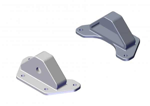 Roll Rite Triangular Cast End Bracket for Sliding Pivot (Pair) 46750