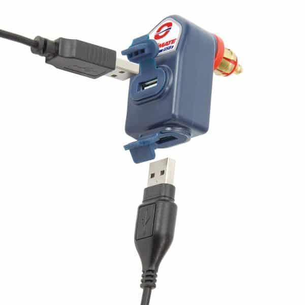 Tecmate OptiMATE 3300mA Dual-Output USB Charger with BIKE plug O-105