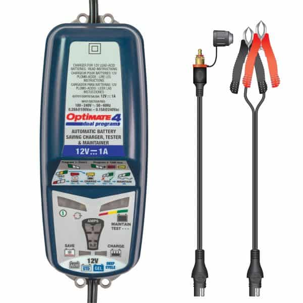 Tecmate OptiMATE 4 CAN-bus edition Battery Charger and Maintainer TM-351