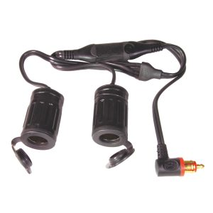 Tecmate OptiMATE Y-Splitter 90deg Plug to 2x Auto Socket O-36