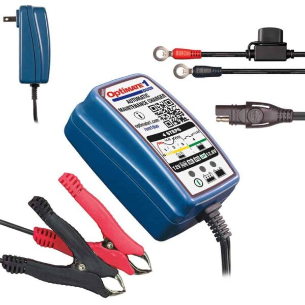 Tecmate OptiMATE 1 DUO Battery Charger and Maintainer- TM-409