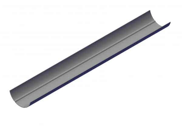 Roll Rite 4in Ridge Pole Splice Extrusion - 61225 cut to 36in 102271
