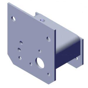 Roll Rite Aluminum Pivot Box Bracket, 5.6UB, Passenger (No Decals) 101868