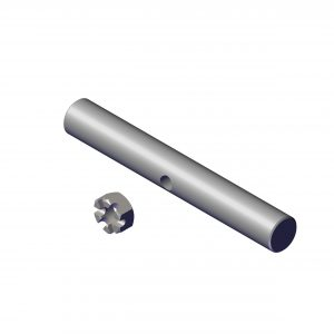 Roll Rite Crank Handle Stub Shaft with Castle Nut Welded on 10162