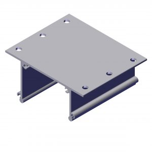 Roll Rite Ext Body Bracket with Holes for 12 Spring UB Box 102580