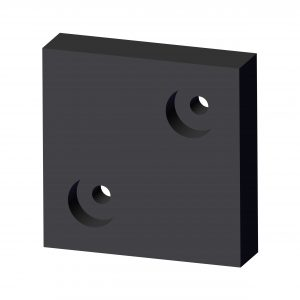 Roll Rite Rubber Block for Gantry Top with Holes 79512