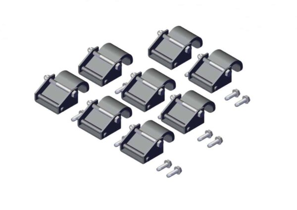 Roll Rite Steel Tarp Securing Clamps Hardware Set for Side Dump System with Bolt 102366